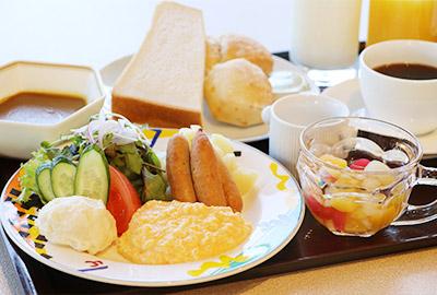洋朝食盛り付け例